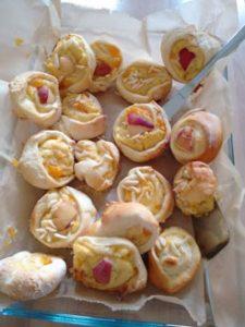 Vanillepudding-Mandarinen-Schnecken
